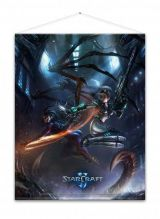 STARCRAFT KERRIGAN AND NOVA WALLSCROLL
