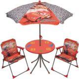 Masa, scaune si umbrela pentru gradina