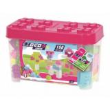 Set de construit 150 cuburi roz