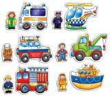 Set 6 puzzle Echipa de salvare (2 si 3 piese)