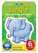 Set 6 puzzle Jungla (2 piese) JUNGLE