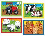 Set 4 Puzzle La ferma (4 6 8 si 12 piese)
