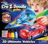 Set creatie 3D  plus Creion pentru baieti 3D Ultimate vehicles