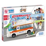 Set tip Lego cu ambulanta si echipaj