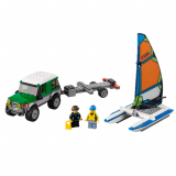 LEGO CITY Masina 4x4 si Catamaranul 60149
