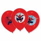 Set 6 baloane latex Spider-Man 27,5 cm