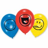 Set 6 baloane Smiley Express Yourself 22,8 cm