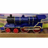 Locomotiva cu aburi - albastru