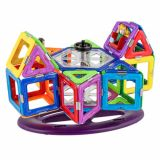 Joc Magnetic Educativ de Constructie 3D - 46 piese