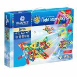 Joc Magnetic Educativ de Constructie 3D -  66 piese