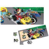 Mickey si pilotii de curse puzzle din lemn 21 piese