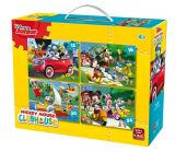 Puzzle 4in1 (12 plus 16 plus 20 plus 24)piese Mickey Mouse