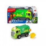 Masinuta de gunoi motorizata, cu sunet, lumini si parti mobile, 25 cm