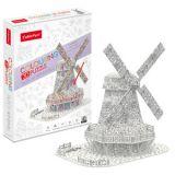 PUZZLE 3D - CBF3 - Dutch Windmill