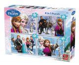 Puzzle 4 in 1 Frozen