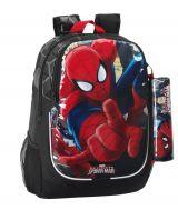 Rucsac jr cu penar Spiderman 44x32x16