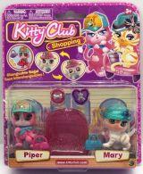 Set 2 figurine de catifea Kitty Club - Piper si Mary