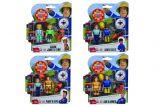 Set 2 figurine Fireman Sam, 7.5 cm cu accesorii