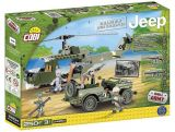 Set de construit Jeep Willys MB cu elicopter 250 piese