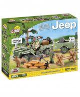 Set de construit Jeep Willys MB cu remorca 180 piese