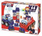 Set de construit masina de pompieri EZ Blox 66 piese