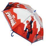 Umbrela manuala transparenta 42 cm Spiderman