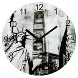 Ceas de perete New York, sticla, 30 x 3 cm