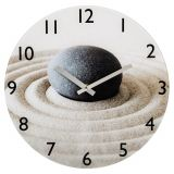 Ceas de perete Sand with Stones, sticla, 30 x 3 cm