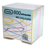 Cub hartie color cu suport 9x9cm 800 file