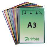 Folie A3 cu rama metalica Tarifold