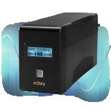 UPS nJoy Isis 1000L, 1000VA/600W, LCD Display, 4 Prize Schuko cu Protectie