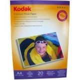 Hartie foto KODAK A4 Glossy 230g/mp 20 coli/pachet