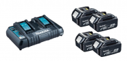 Power Source KIT Makita 198838-6  LI-ION BL1850B x 4 + DC18RD