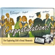 Carte postala metalica Congratulations