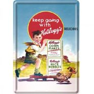 Carte postala metalica Keep going with Kellogg's