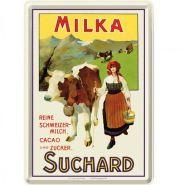 Carte postala metalica Milka Suchard