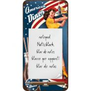 Bloc notes magnetic American Diner Waitress