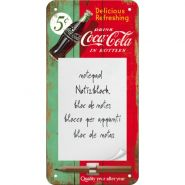 Bloc notes magnetic Coca-Cola Delicious Refreshing Green