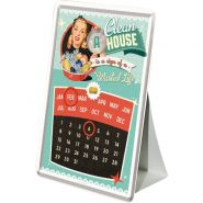 Calendar metalic de birou A Clean House is a Sign of a wasted life(10/14cm)