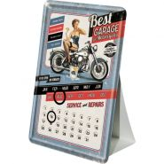 Calendar metalic de birou Best Garage Blue(10/14cm)