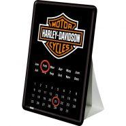 Calendar metalic de birou Harley-Davidson(10/14cm)