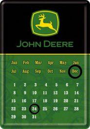 Calendar metalic de birou John Deere(10/14cm)
