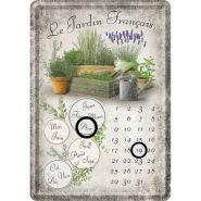 Calendar metalic de birou Le Jardin Francais(10/14cm)