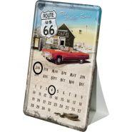 Calendar metalic de birou Route 66 - Cafe(10/14cm)