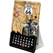 Calendar metalic de birou Route 66(10/14cm)