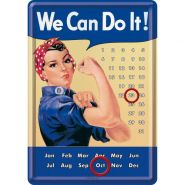 Calendar metalic de birou We can do it!(10/14cm)