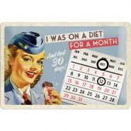 Calendar metalic de perete I was on a diet(20/30cm)