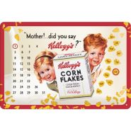 Calendar metalic de perete Kellogg's Mother (20/30cm)
