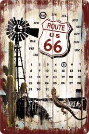 Calendar metalic de perete Route 66 - Survivor(20/30cm)