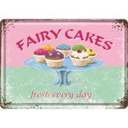 Carte postala metalica 10x14 Fairy Cakes